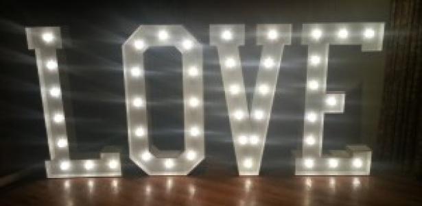 Illuminated 'GIANT' Letters